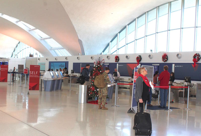About 1 million passengers come through Lambert airport every month. Photo taken in December 2016.