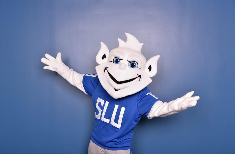 Saint Louis University's newest version of the Billiken mascot, unveiled Wed., Jan. 25, 2017.