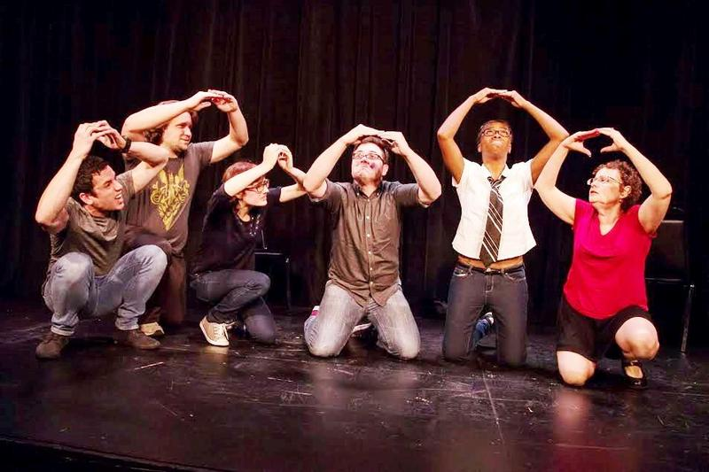Members of St. Louis' Improv Shop -- Tyler Crandall, Andrew Langerak, Erinne Haberl, Daniel Westheimer, Asia Thomas, Sue Koppel -- perform on stage in this file photo.
