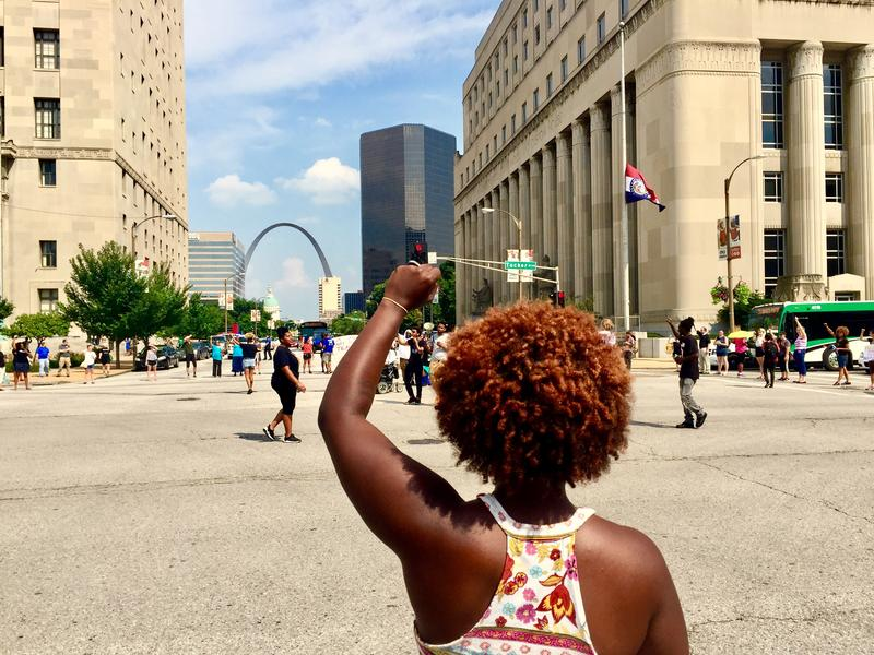 In July 2016, black organizers with the St. Louis Action council hosted a protest against police brutality and systemic inequality in the region and across the nation. This Saturday, the Women's March on St. Louis will walk through the same streets.