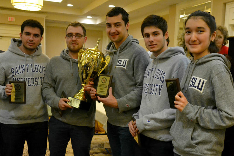 The SLU team consists of, from left, Cemil Can Ali Marandi, Yaroslav Zherebukh, Dariusz Swiercz, Francesco Rambaldi and Nozima Aripova.