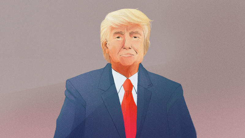 drawing of Donald Trump