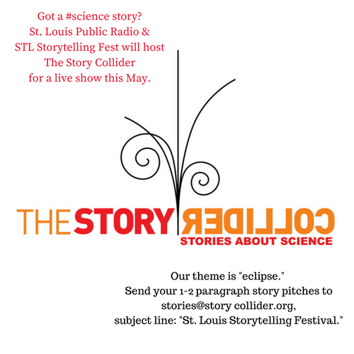 The Story Collider, a science-themed live storytelling show and podcast, will have a special St. Louis show on Tuesday, May 2., 2017.