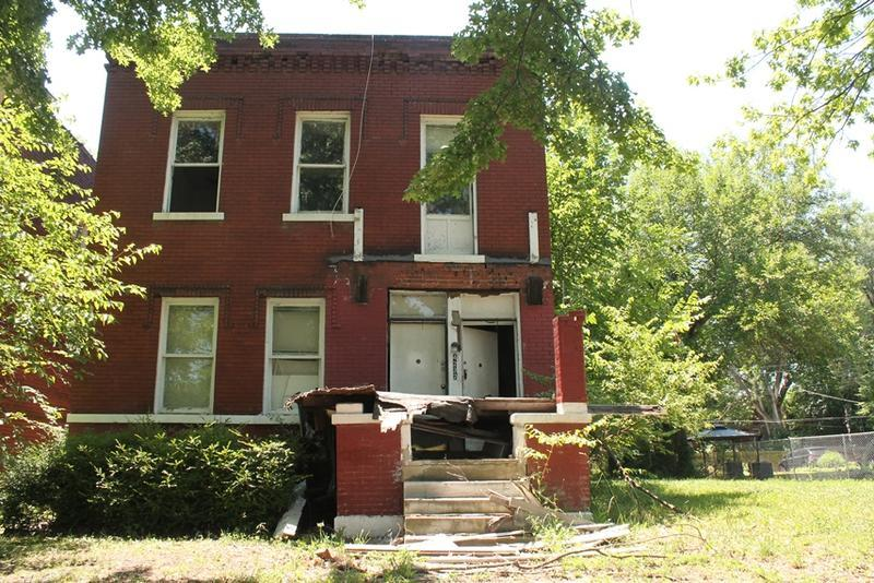 A vacant building owned by the city's Land Reutilization Authority in the 4200 block of St. Louis Ave.