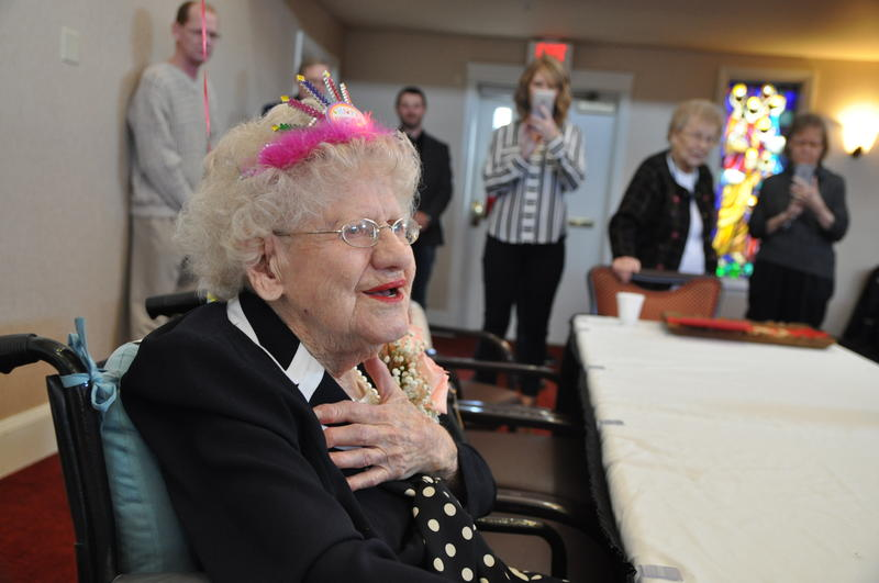 Longtime St. Louis resident Lucy Hamm celebrates her 109th birthday with her retirement community in Chesterfield. Hamm was born on Jan. 30, 1908.