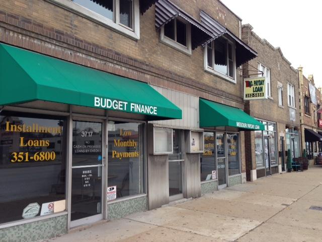 A payday loan establishment in south St. Louis, one of about 725 short-term lenders in the state of Missouri.