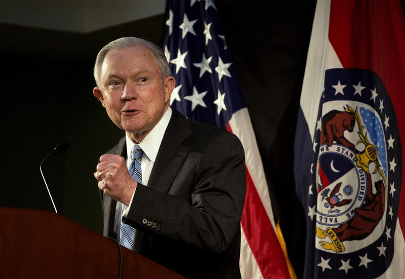 U.S. Attorney General Jeff Sessions speaks to law enforcement officials. (03/31/17)