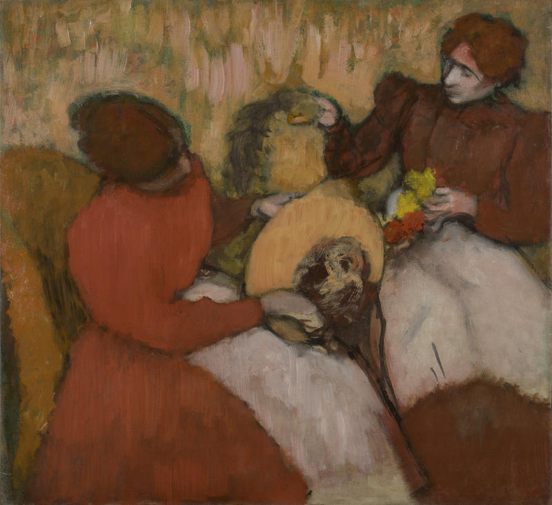 The Milliners, c.1898; oil canvas; 29 5/8 x 32 ¼ inches; Edgar Degas, French, 1834-1917