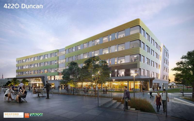 Rendering of the building at 4220 Duncan Ave., in the Cortex Innovation Community, which will be anchored by Microsoft.