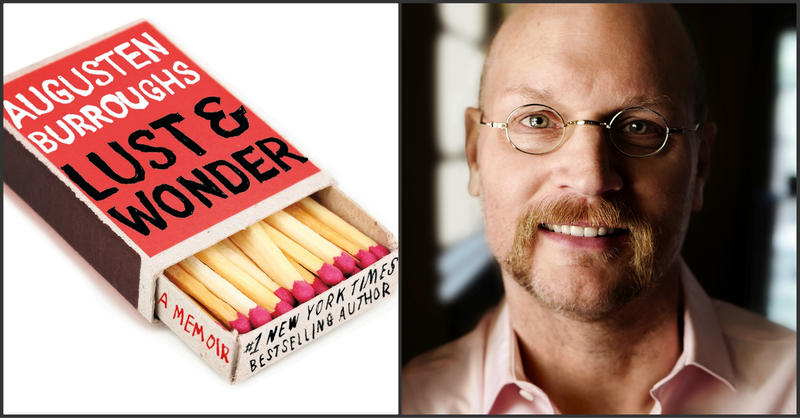 "A file photo of Augusten Burroughs accompanies this image of the cover of his new book, ""Lust and Wonder."""