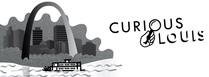St louis skyline riverboat curious louis logo