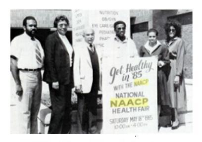 Ina Boon at a 1985 health fair.