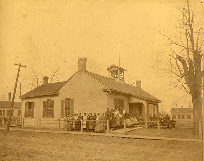 Lincoln School, the county's first public school for African Americansthe county's first public school for African Americans, prior to the construction of its new building in 1911 is one of many photos archived in Madison Historical.