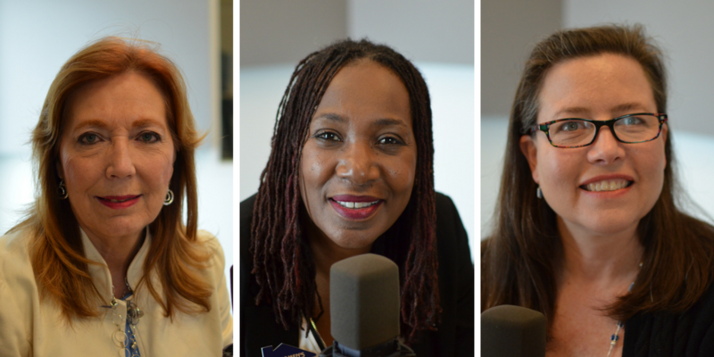 Maggie Menefee, Sylvia Jackson and Kristin Bulin work to assist victims of domestic violence.