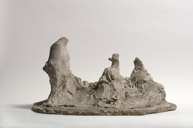 Une Conversation (A Conversation), 1892-99, plaster, Museo Medardo Rosso
