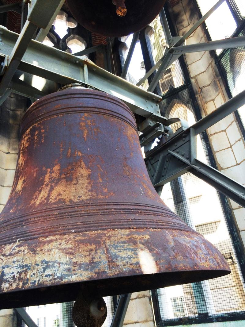 The biggest bell in Missouri (by diameter) hangs in the bell tower of Christ Church Cathedral in downtown St. Louis.