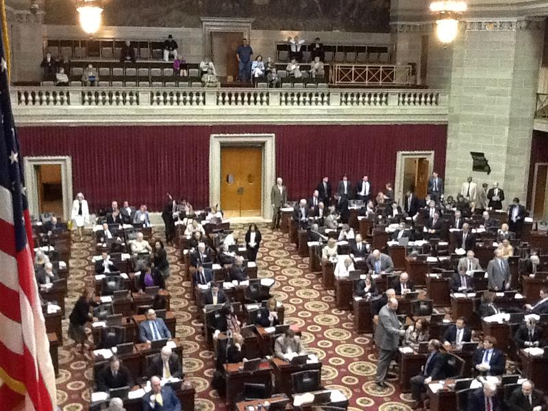 The floor of the Missouri House