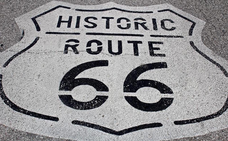 A stretch of old Route 66 pavement near Mount Olive, Illinois.