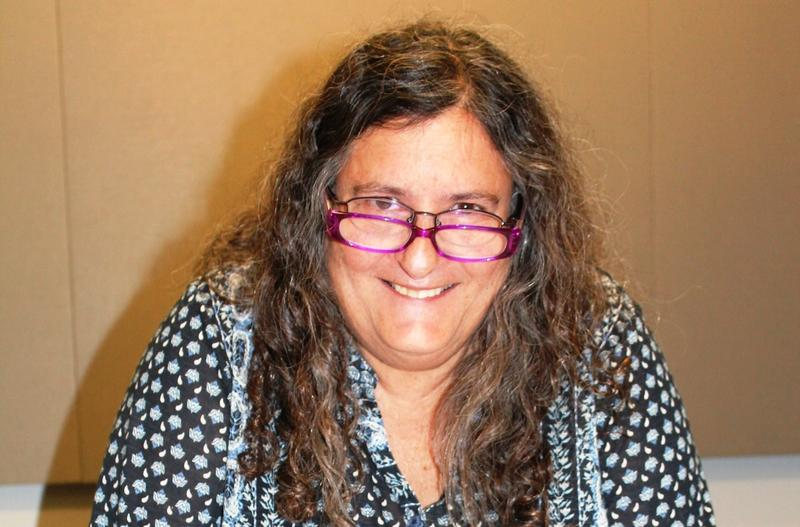 """Poet Jane Ellen Ibur, seen here in a May 1, 2017 photo, has enjoyed a storied career. For nearly 20 years, she co-produced and co-hosted the local radio show """"Poet for the Halibut."""""""