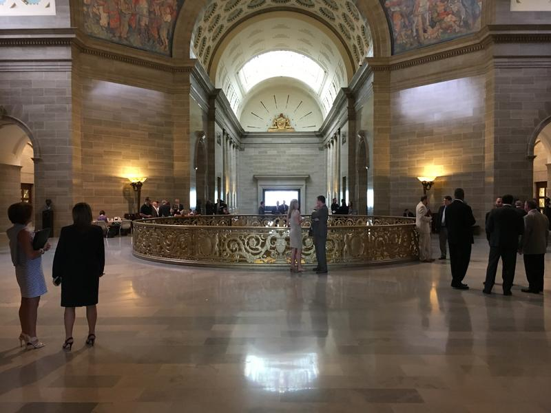 The third floor Rotunda of the Missouri Capitol.