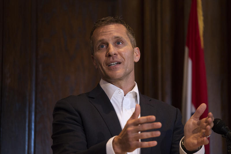 Gov. Eric Greitens speaks during a news conference after the end of the 2017 legislative session. Greitens used this opportunity to compare lawmakers to third graders for not passing enough bills.