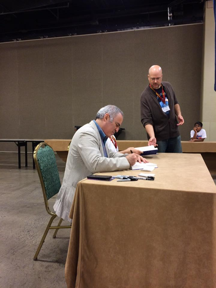 Chess legend Gary Kasparov signed copies of his book at the Super Nationals Chess Tournaments in Nashville. May 2017