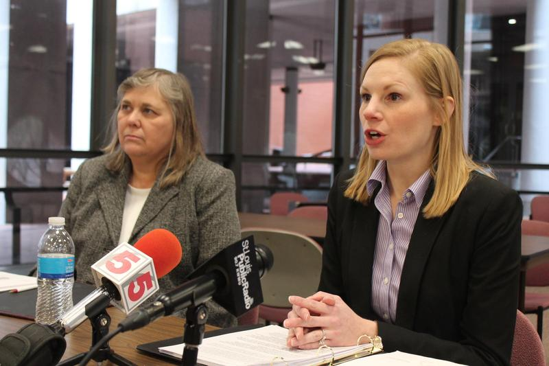 State Auditor Nicole Galloway, right, slammed Carpenter for