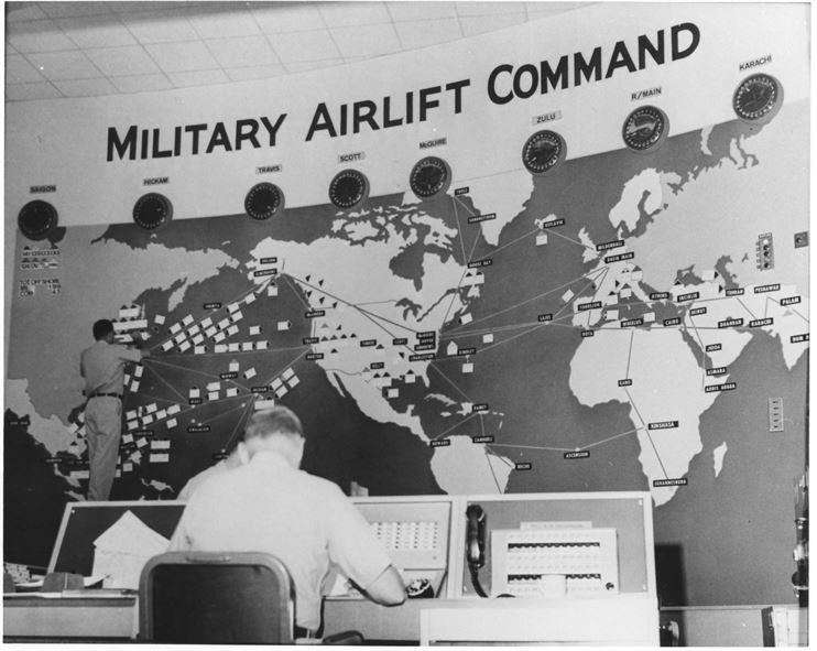Military Airlift Transport Service (MATS) is redesignated as Military Airlift Command (MAC) in 1966.
