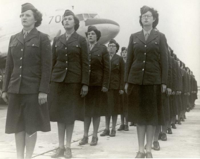 The 58th Woman's Army Auxiliary Corps Post Headquarters Company became the first female unit stationed at Scott Field when it moved from Florida in March 1943.