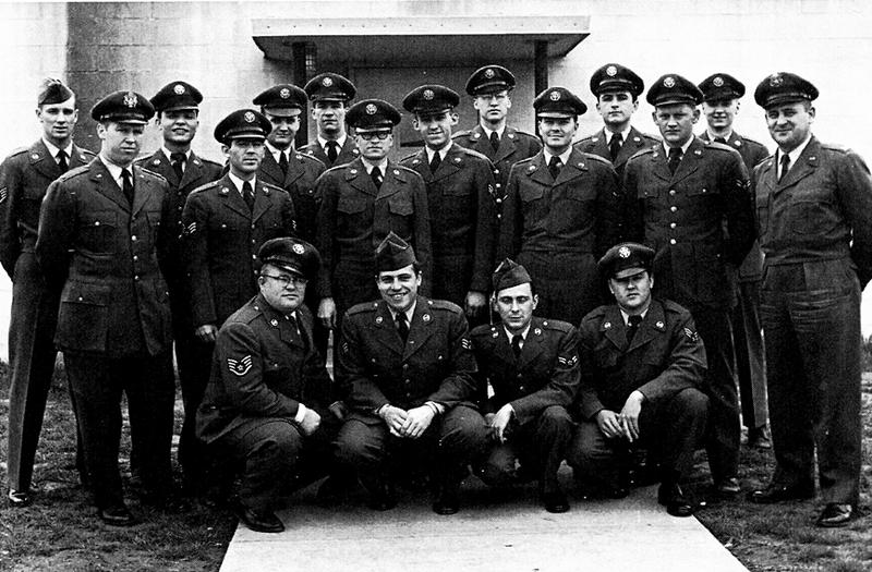 Radar operators pose for a photo in 1953 at the Belleville Air Force Station at Turkey Hill, Belleville. These Airmen were assigned to the 798th Aircraft Control and Warning Squadron.