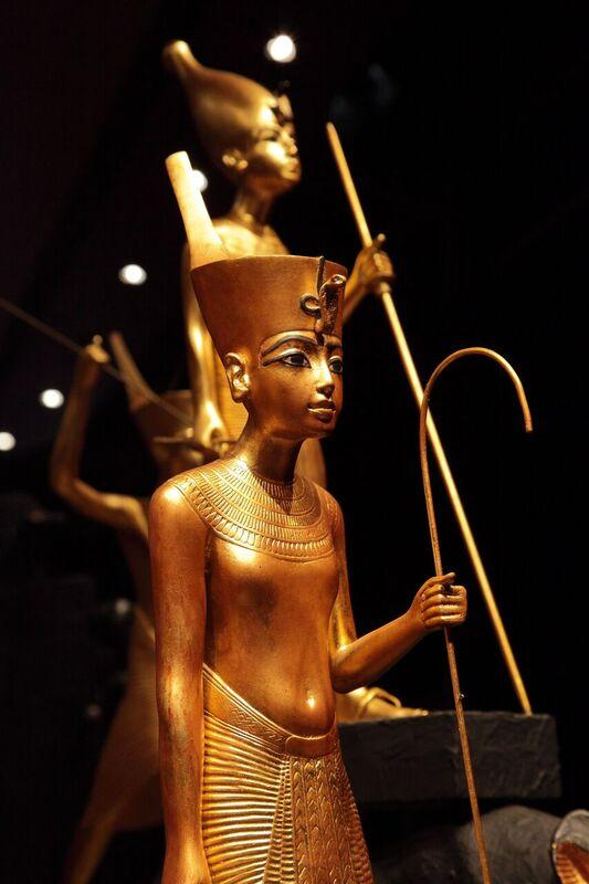 This is a replica of a golden figure.