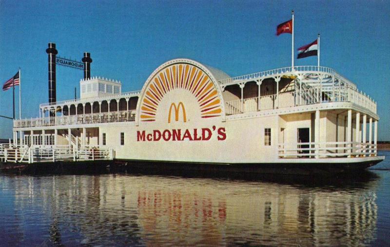 The floating McDonald's was a fixture on the St. Louis riverfront for 20 years but closed in 2000.