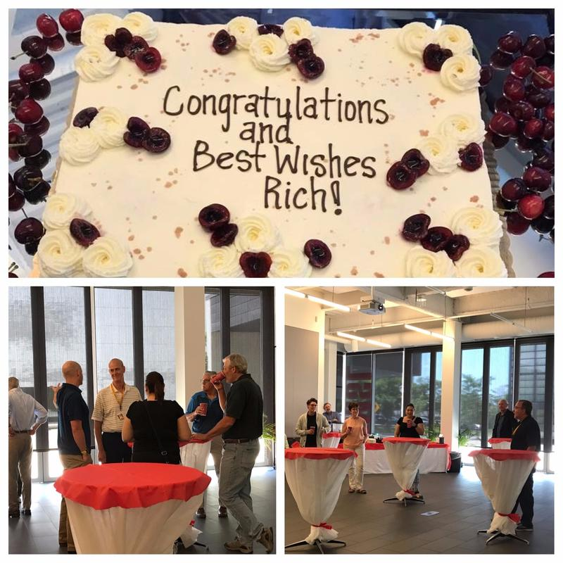 Rich Herberts, System Administrator, is retiring, and we gathered to wish him well.