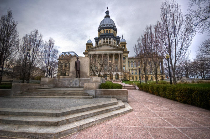 The Illinois Capitol building in Springfield, Illinois.