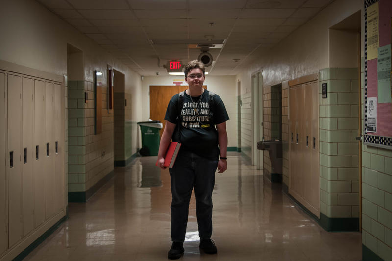 Max Chappell, 18, recently graduated from Kirkwood High School. He transitioned to male while at the school. Administrators agreed to change to staff restrooms to gender-neutral.