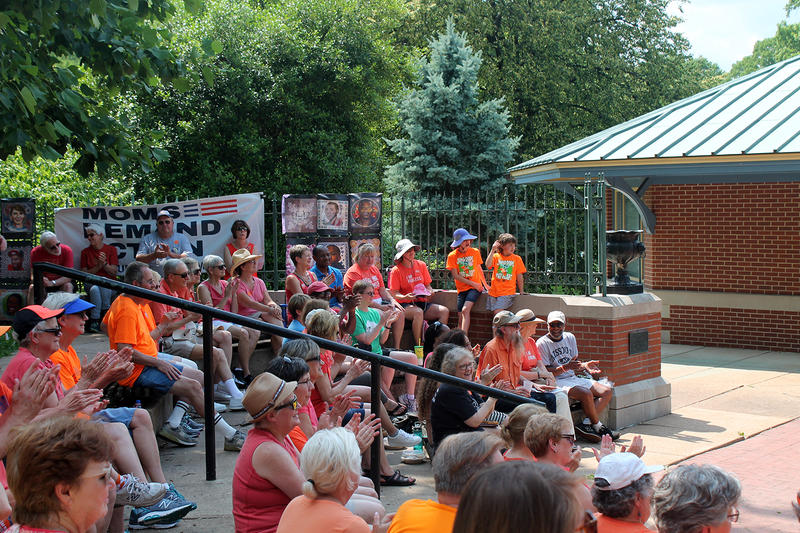 Advocates against gun violence wore orange Sat., June 3, 2017, to raise awareness of National Gun Violence Awareness Day.