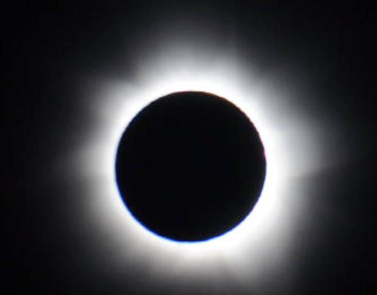A total solar eclipse seen from Australia in November 2012.