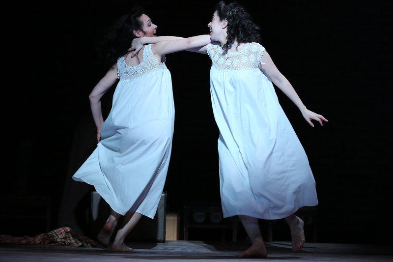 "File photo: St. Louisan Chris Akerlind won a 2017 Tony Award for his lighting work in ""Indecent,"" featuring Adina Verson. right, and Katrina Lenk, as Rifkele and Menke."