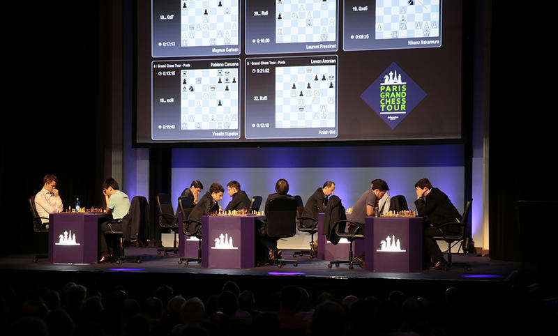 The action at the Grand Chess Tour in Paris in 2016