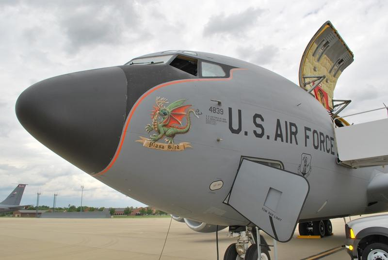 has eight KC-135 Stratotankers. The planes can carry 33,000 gallons of fuel. June 2017