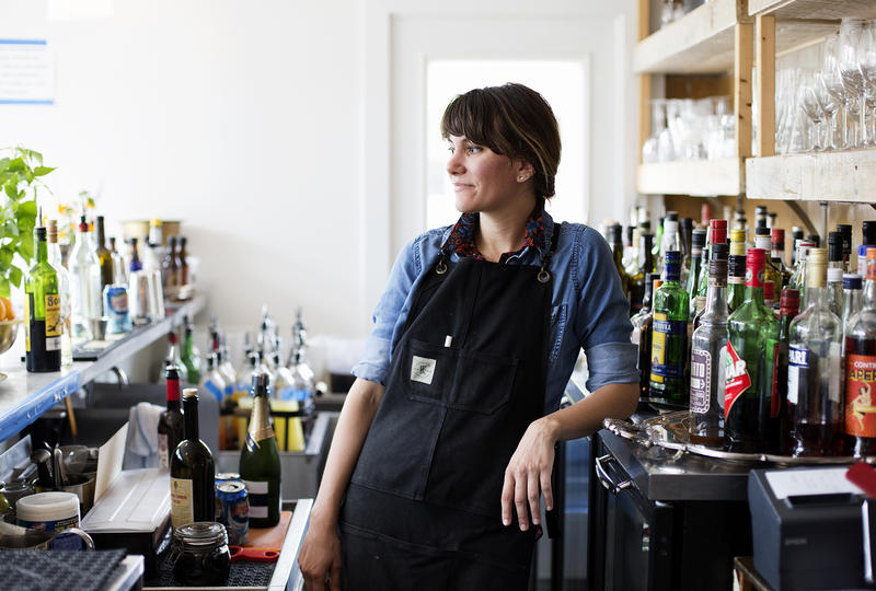 Nika Marble is an artist, musician and head bartender at Elaia and Olio. (June 23, 2017)