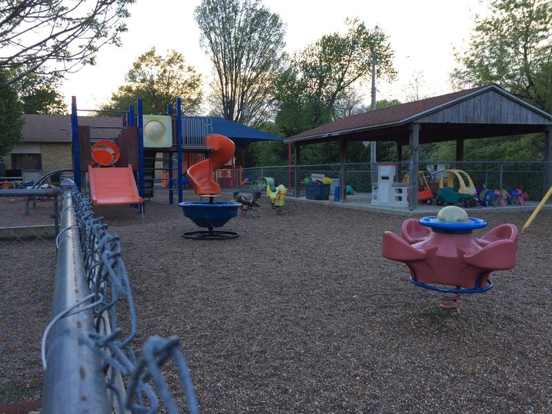 The Trinity Lutheran Church playground