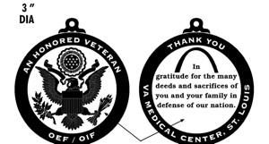 A thank you medallion from veterans celebration in 2008 (300 pixels)
