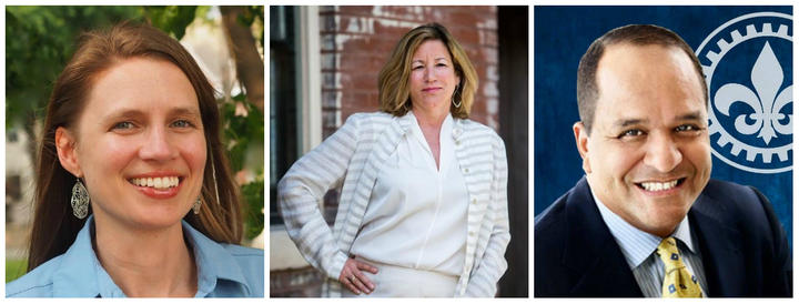 Heather Navarro, Celeste Vossmeyer and Steve Roberts Sr. are the three major candidates for the vacant 28th Ward aldermanic seat.