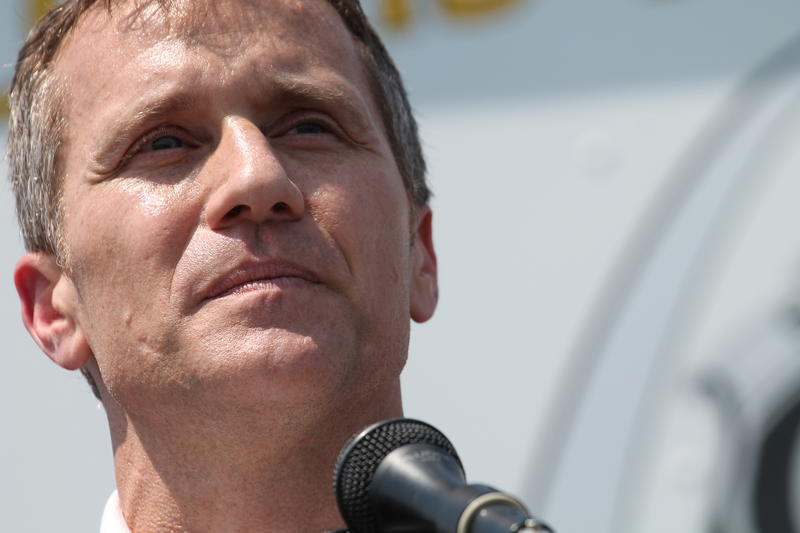 "Gov. Eric Greitens announces the ""St. Louis Safety Plan"" in north St. Louis on Monday, July 10, 2017."