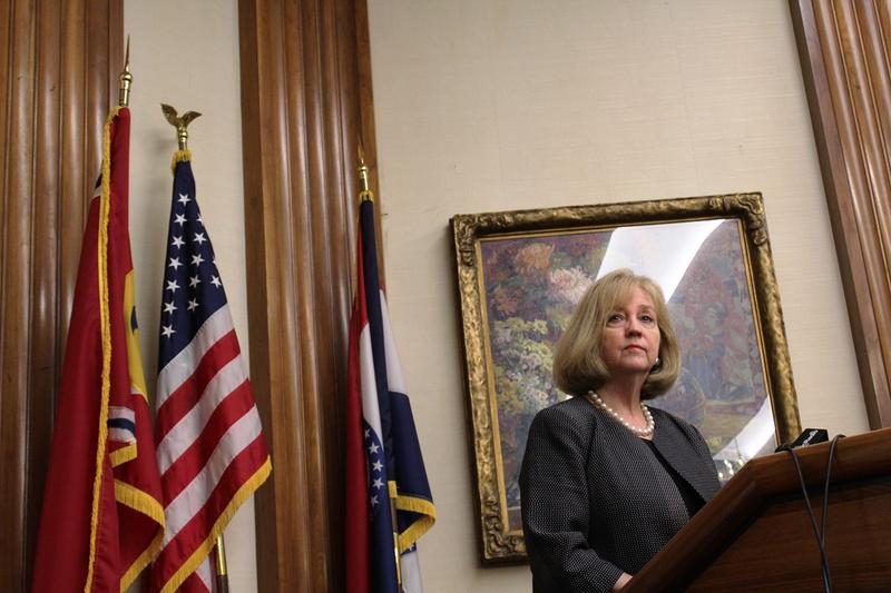 St. Louis Mayor Lyda Krewson addresses the media on July 14, 2017.