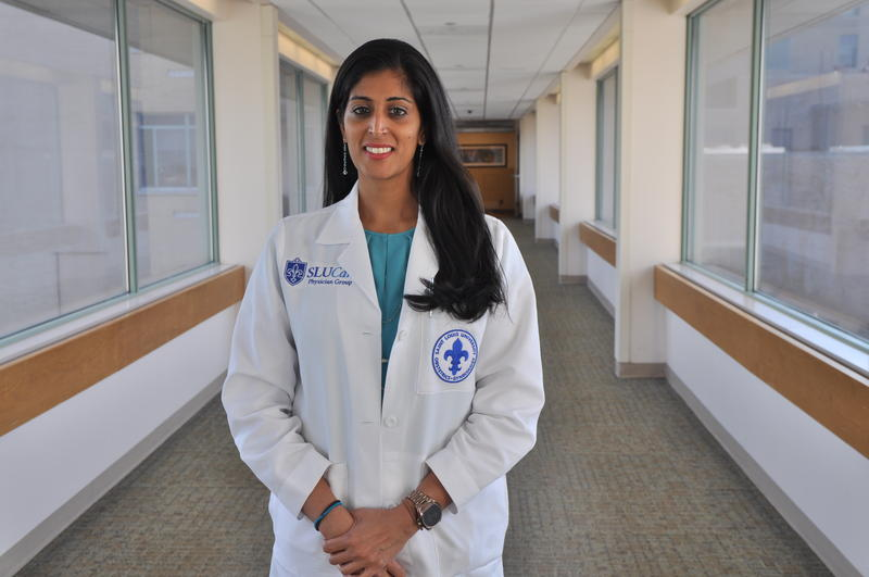 Dr. Shilpa Babbar, an OB-GYN physician for SLUCare in St. Louis County.