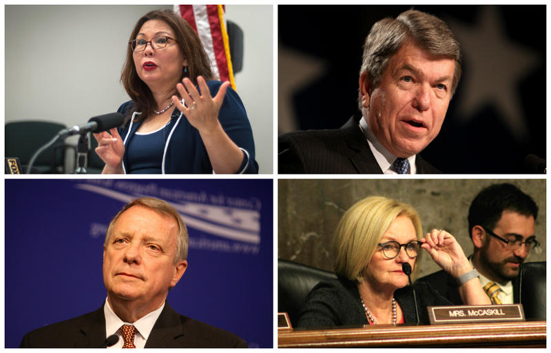 On Thursday, U.S. Sens. Tammy Duckworth, D-Ill., Roy Blunt, R-Mo., Claire McCaskill, D-Mo., and Dick Durbin, D-Ill., cast late night votes for and against the most recent health care bill making rounds on Capitol Hill.