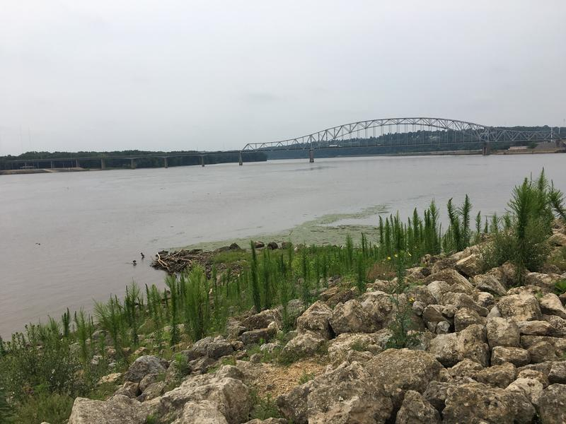 A view of the Mississippi River from Dubuque, IA, where government agencies, environmentalists, engineers and residents gathered to discuss flood risks along the upper Mississippi River.