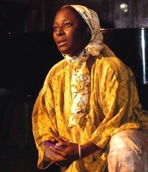 "Photo of Actress and choreographer Vivian Watt in ""Complacency of Silence: Darfur."" 2008 300 pxls"
